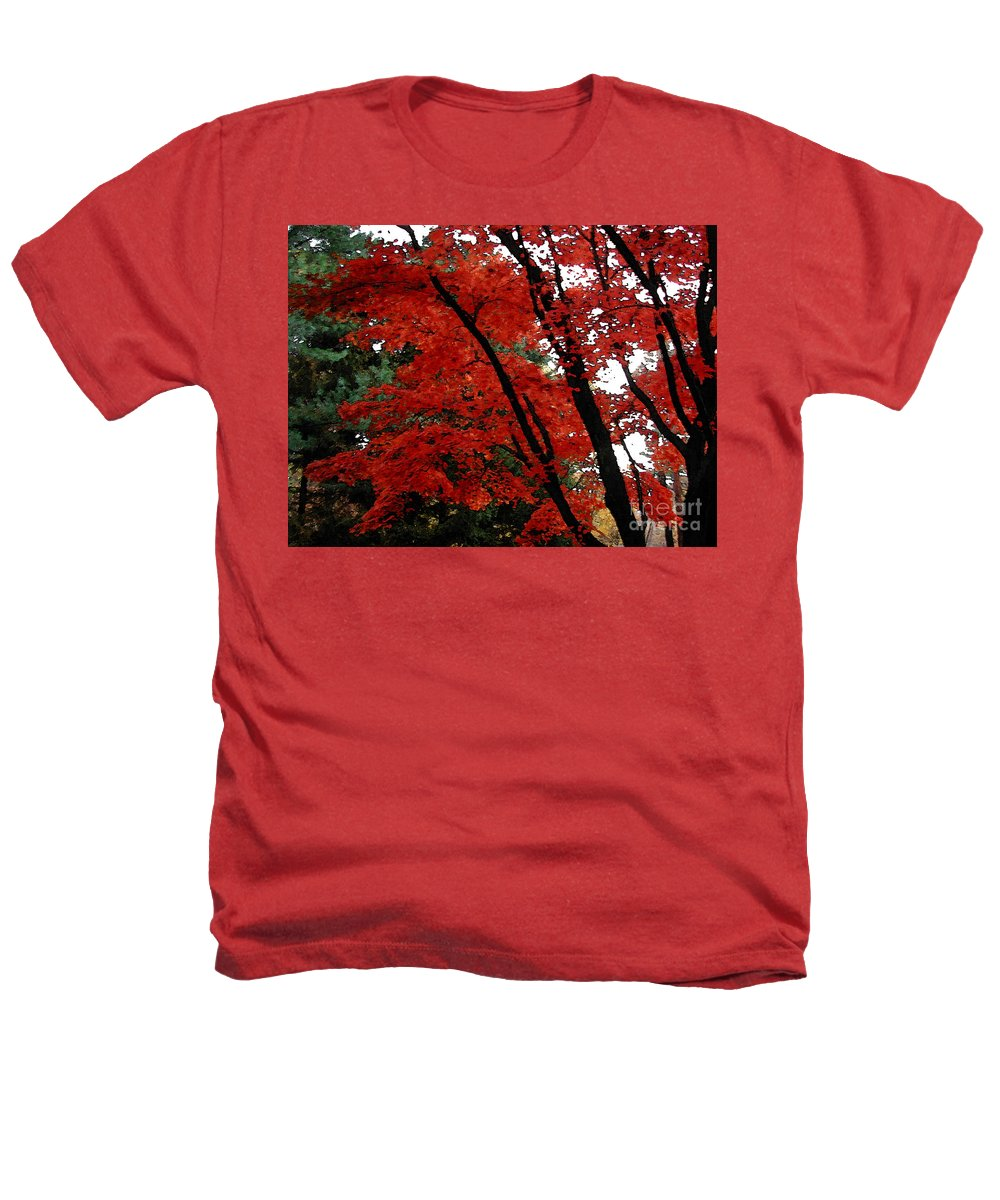 Autumn Heathers T-Shirt featuring the photograph Autumn In New England by Melissa A Benson
