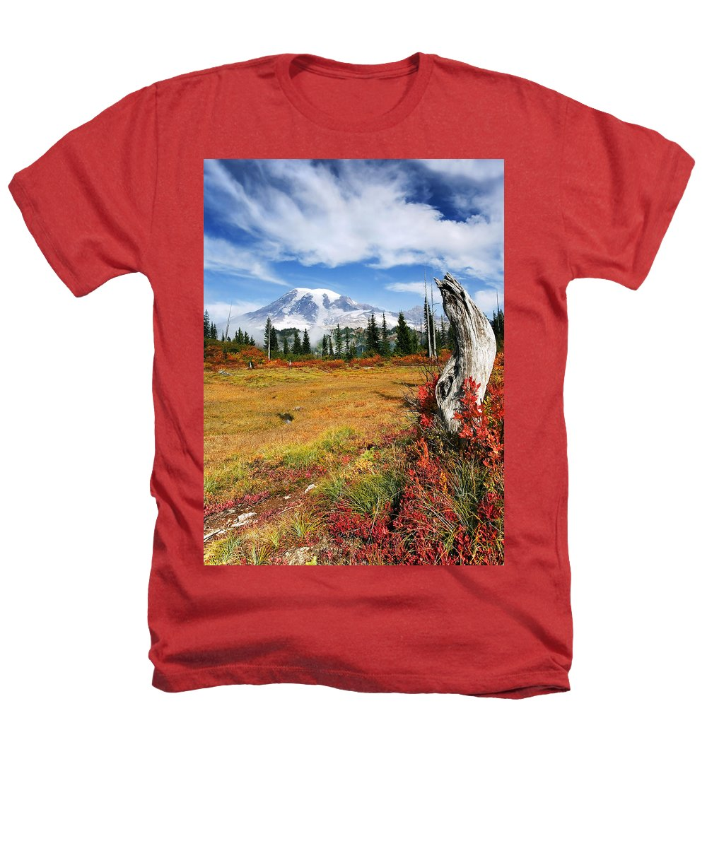 Rainier Heathers T-Shirt featuring the photograph Autumn Majesty by Mike Dawson