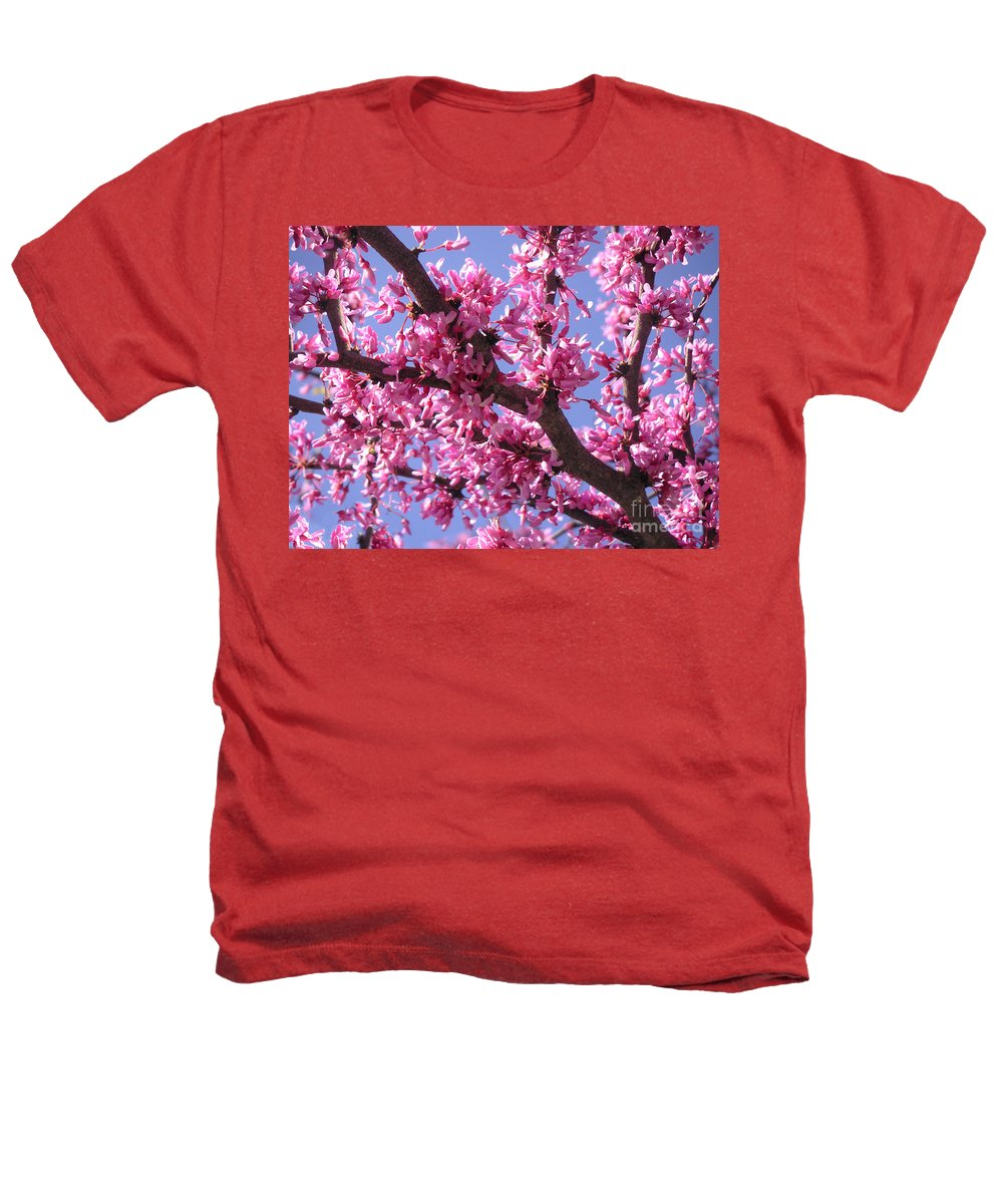 Nature Heathers T-Shirt featuring the photograph Blooming Red Buds by Lucyna A M Green