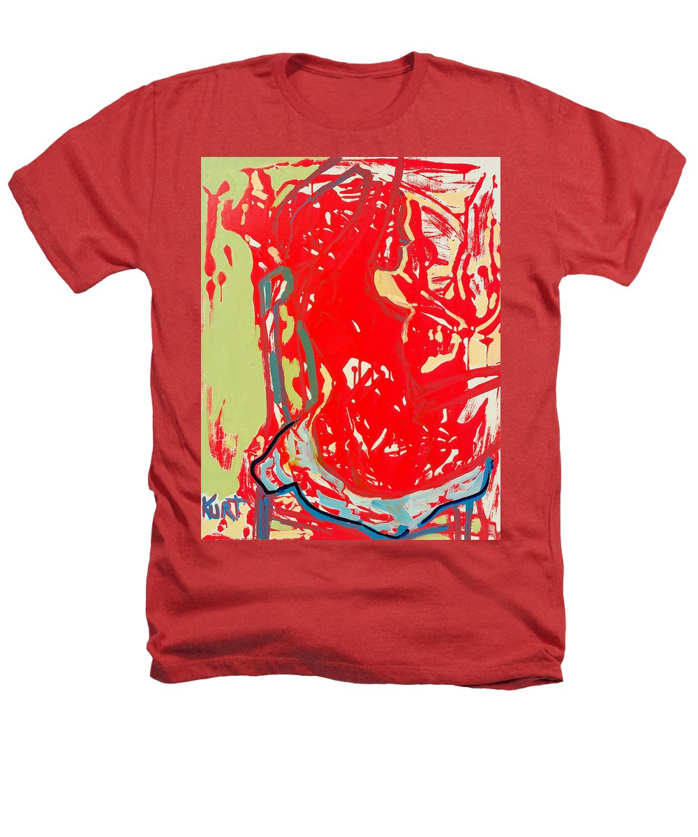Nude Heathers T-Shirt featuring the painting Blue Chair by Kurt Hausmann