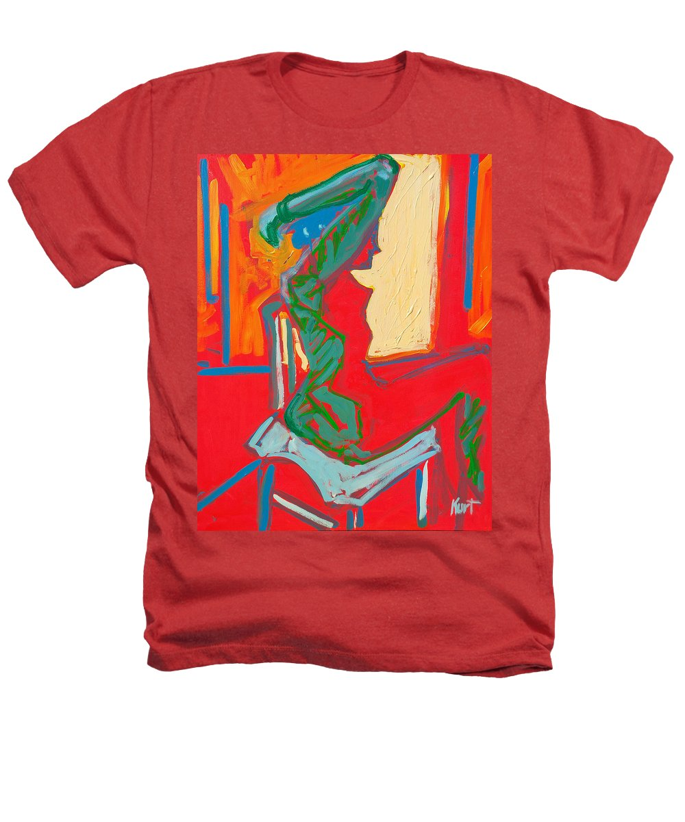 Woman Heathers T-Shirt featuring the painting Blue Chair Study by Kurt Hausmann