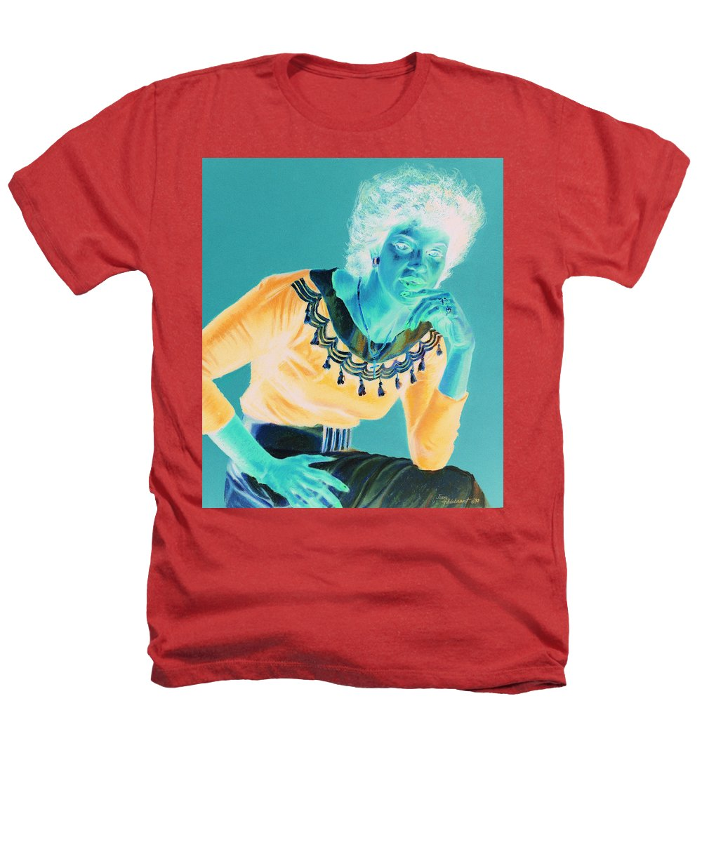 Portrait Heathers T-Shirt featuring the painting Bobbi by Jean Hildebrant