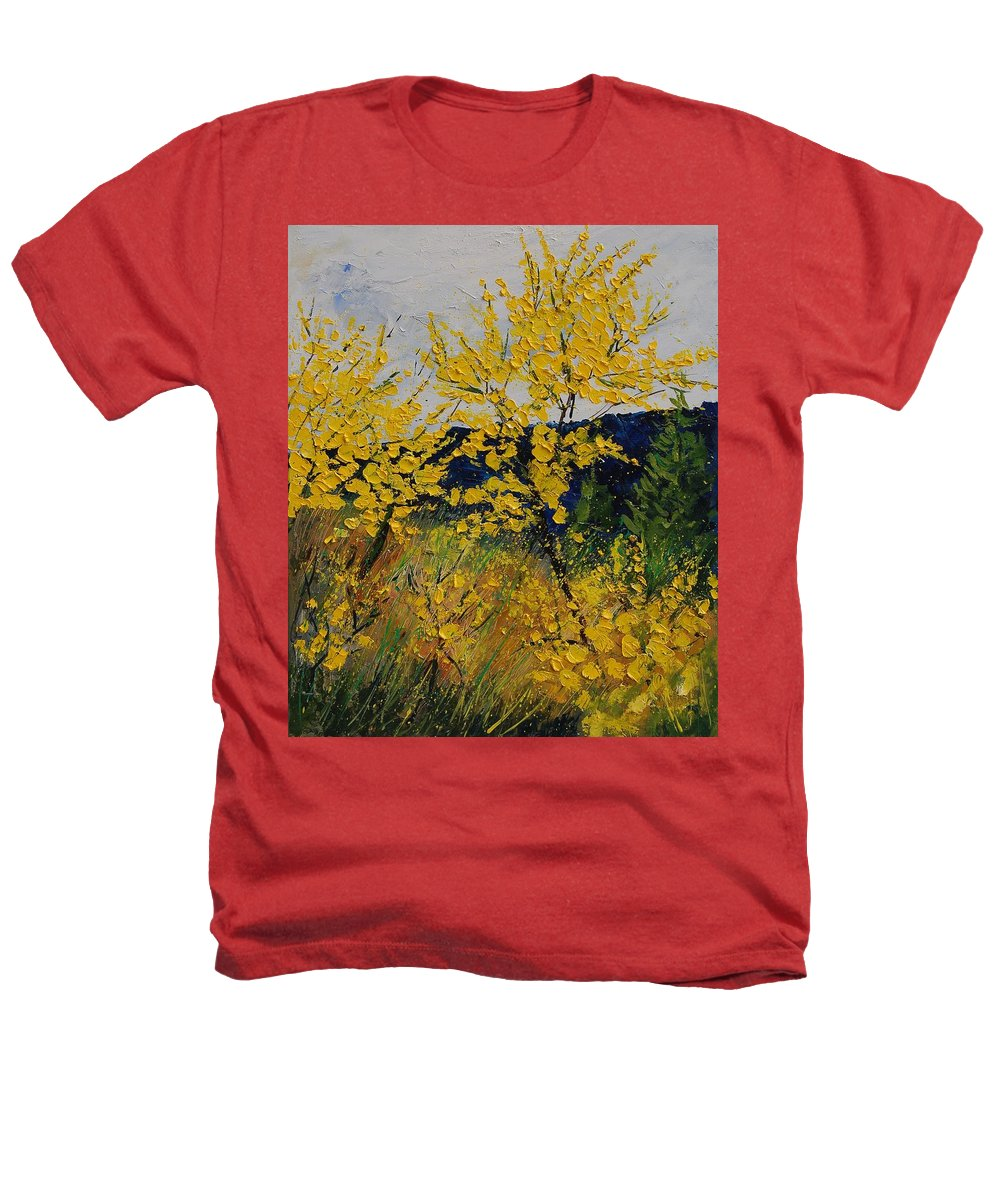 Flowers Heathers T-Shirt featuring the painting Brooms by Pol Ledent
