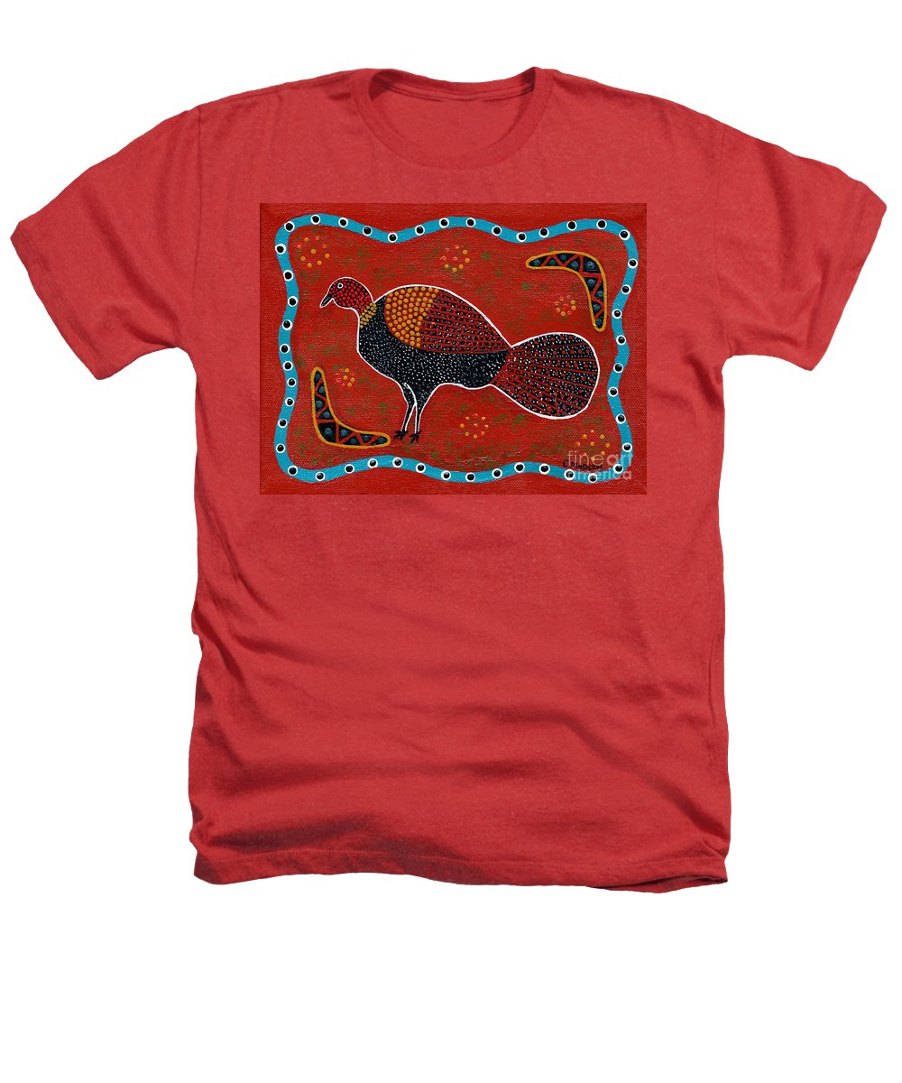 Brushturkey Heathers T-Shirt featuring the painting Brush Turkey by Clifford Madsen