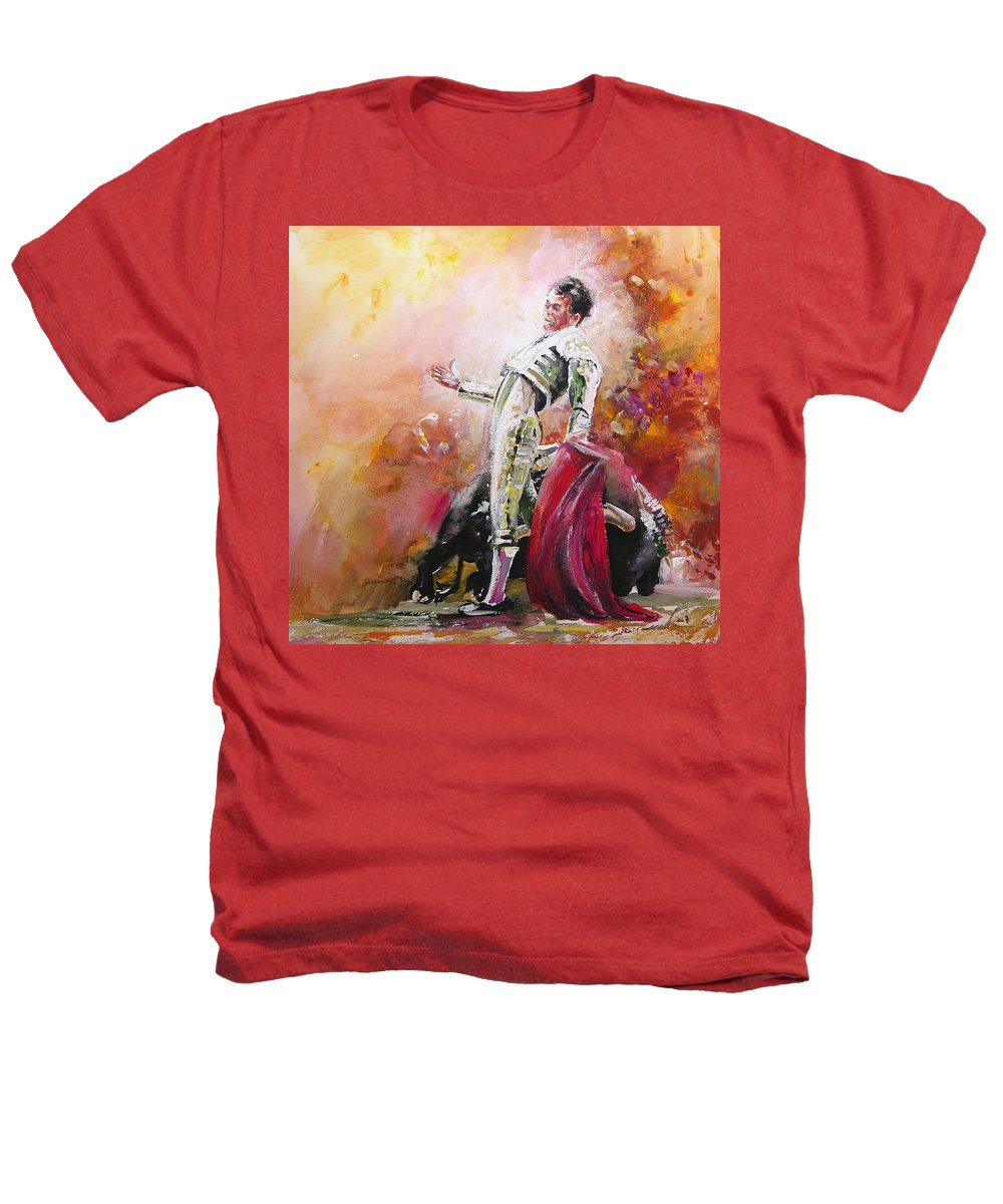 Animals Heathers T-Shirt featuring the painting Bullfight 24 by Miki De Goodaboom