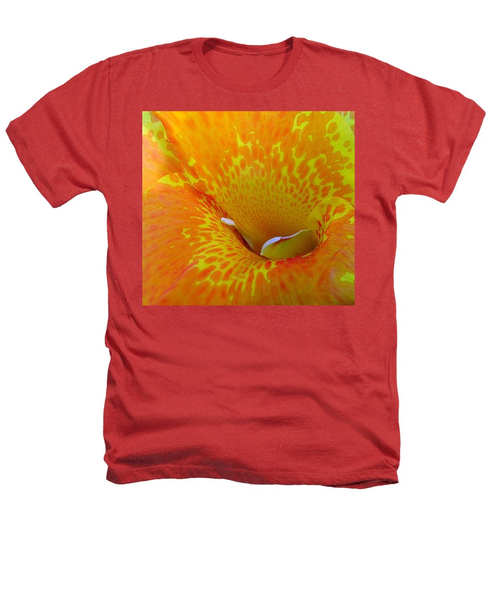 Orange Yellow Flower Heathers T-Shirt featuring the photograph Canna by Luciana Seymour
