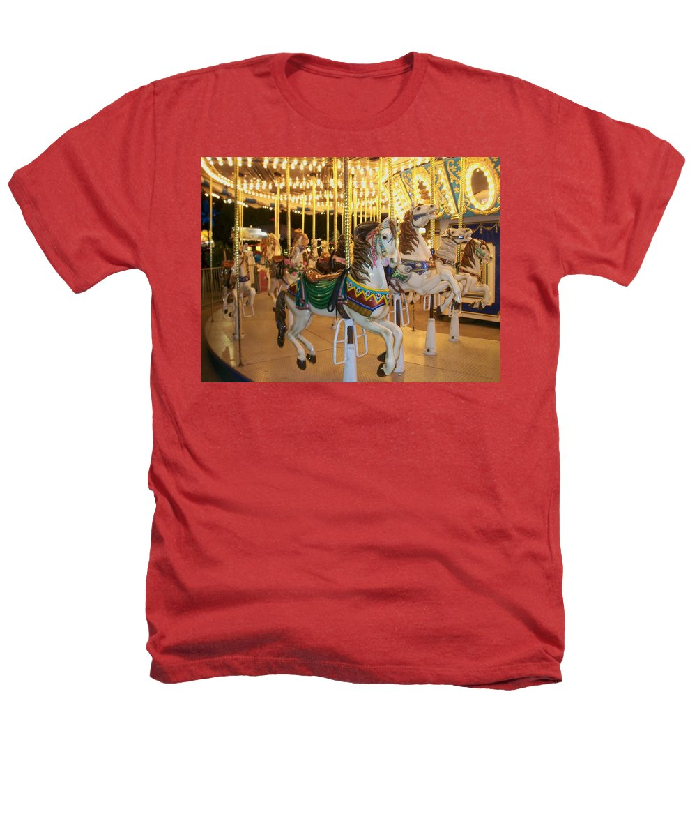 Carousel Horse Heathers T-Shirt featuring the photograph Carousel Horse 4 by Anita Burgermeister