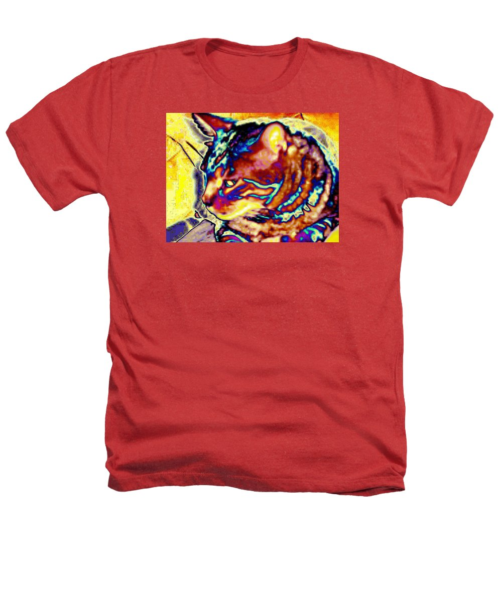 Cat Heathers T-Shirt featuring the photograph Cat Nap by Dawn Johansen