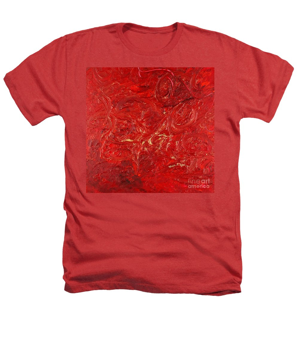 Red Heathers T-Shirt featuring the painting Celebration by Nadine Rippelmeyer