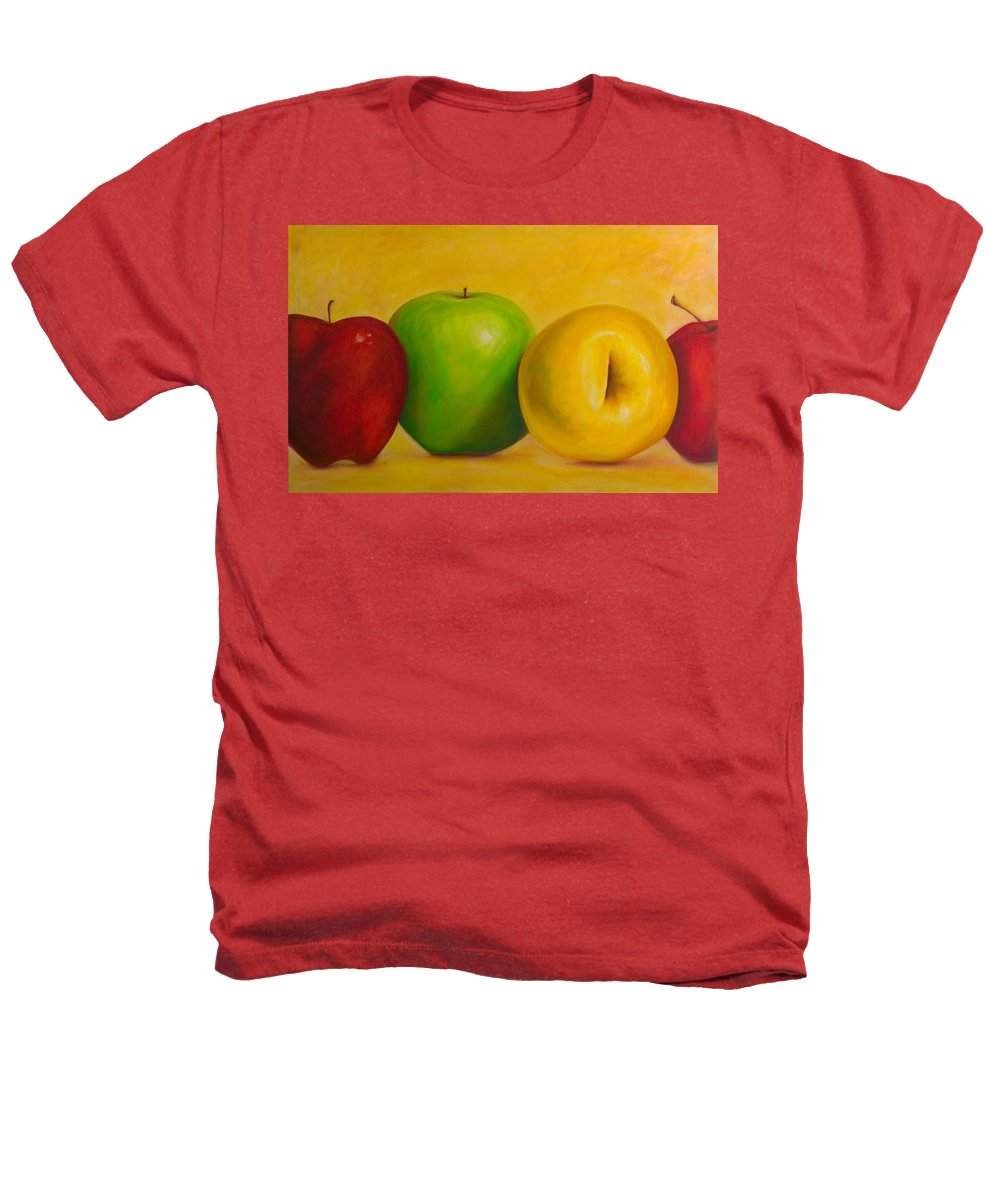 Still Life Heathers T-Shirt featuring the painting Chorus Line by Shannon Grissom