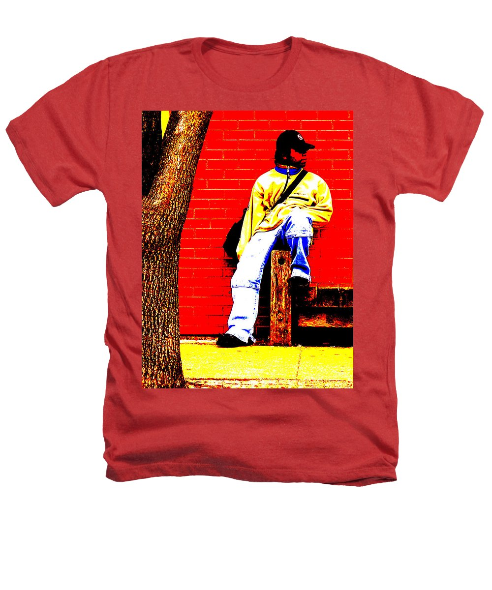 Canvas Heathers T-Shirt featuring the photograph Cross Town Run by Albert Stewart
