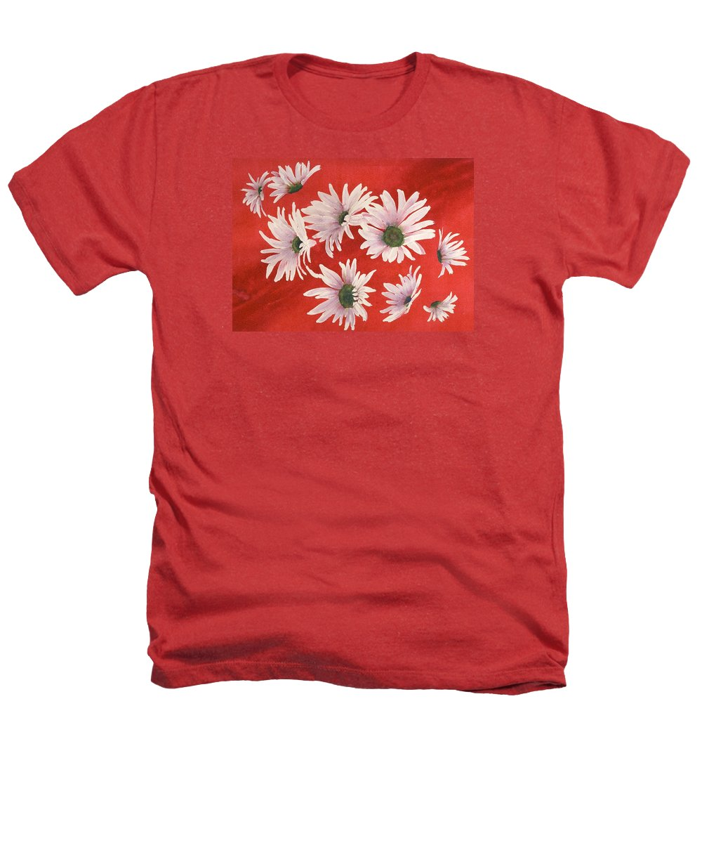 Flowers Heathers T-Shirt featuring the painting Daisy Chain by Ruth Kamenev