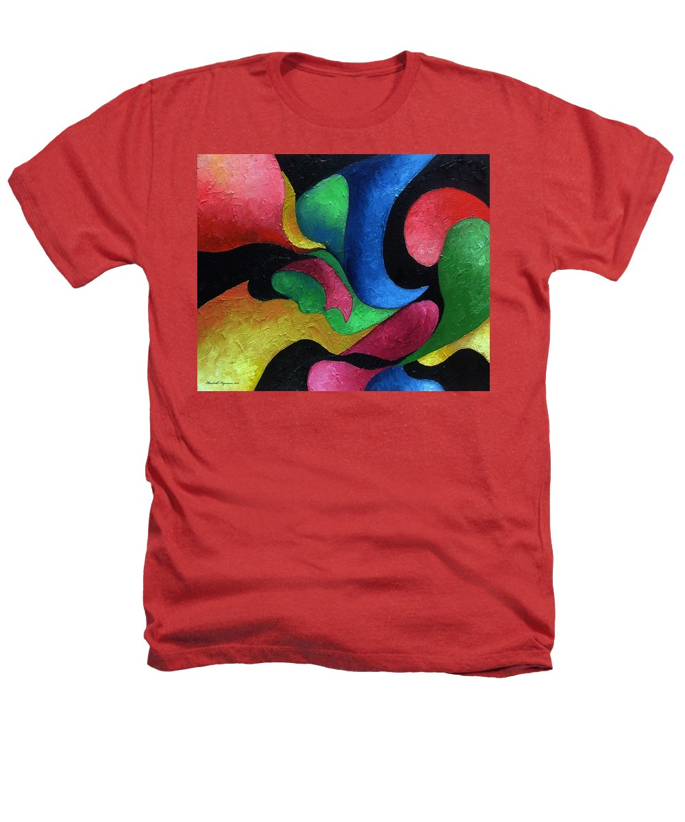 Abstract Heathers T-Shirt featuring the painting Dance With Me by Elizabeth Lisy Figueroa