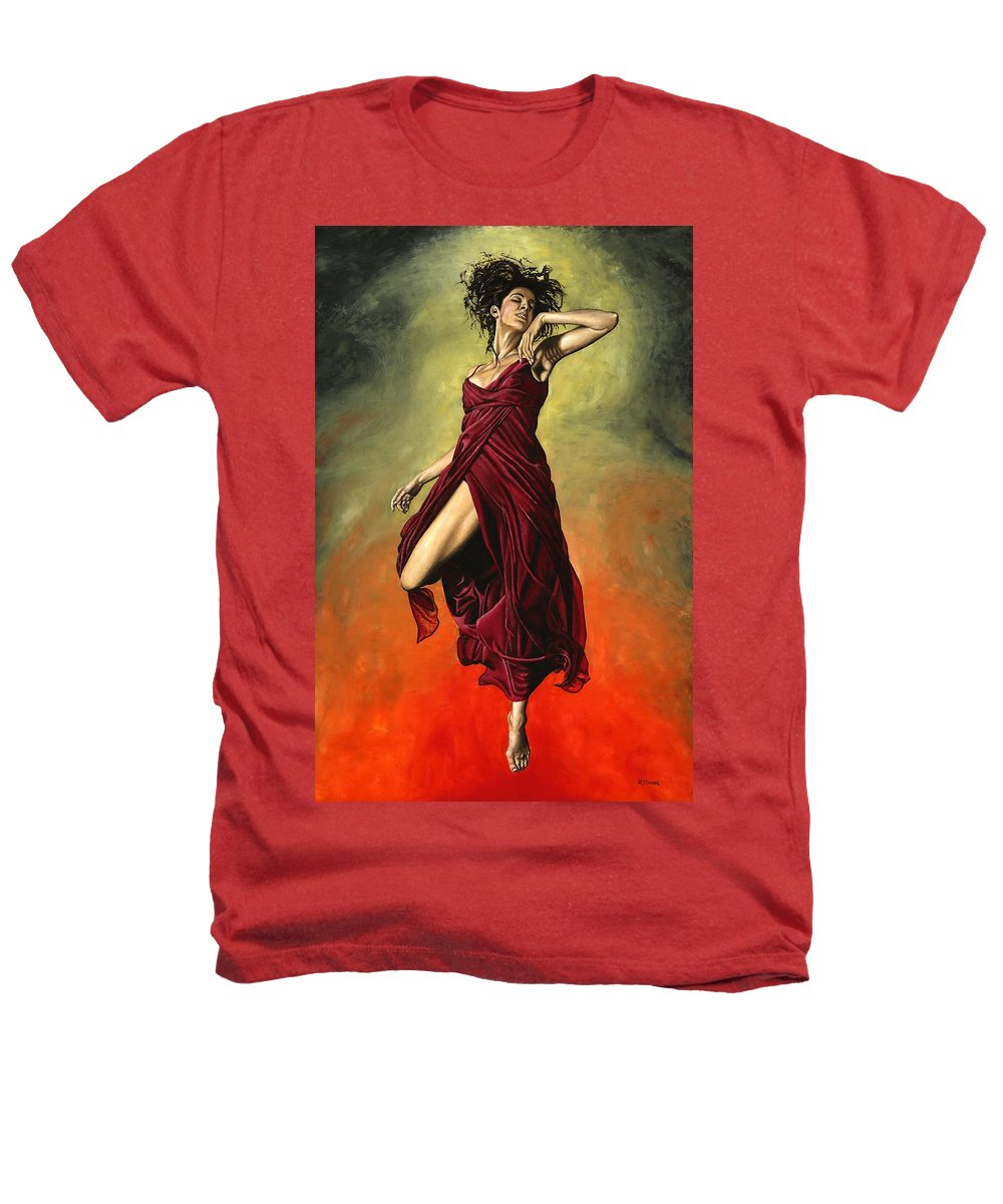 Dance Heathers T-Shirt featuring the painting Destiny's Dance by Richard Young