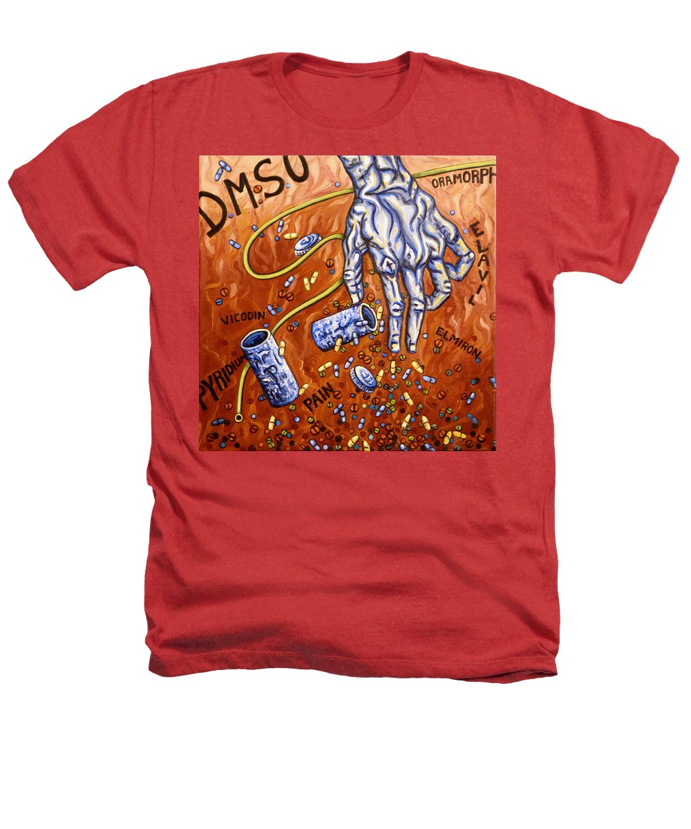 Pain Heathers T-Shirt featuring the painting Dmso by Judy Henninger