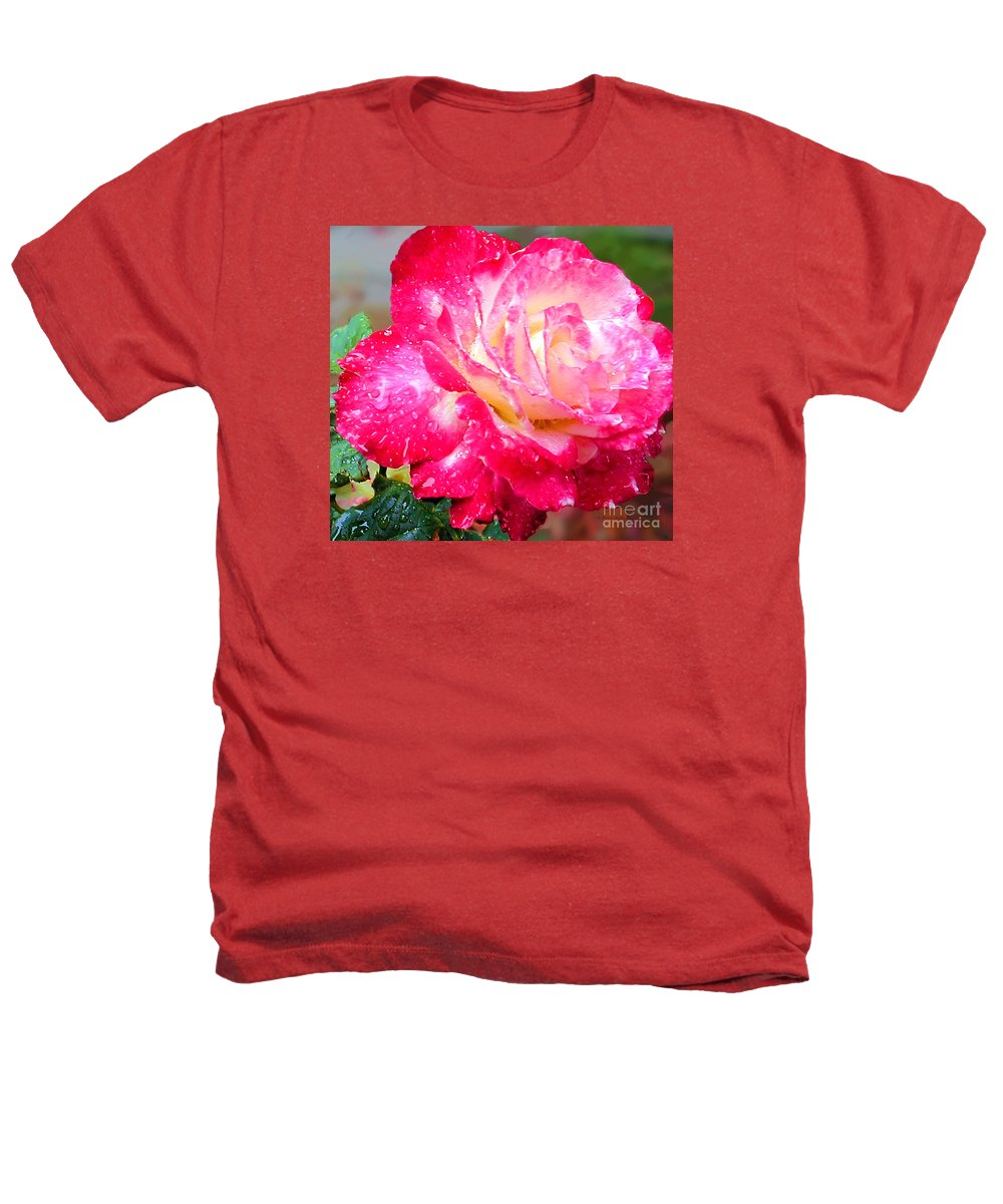 Fine Art Photography Heathers T-Shirt featuring the photograph Double Delight by Patricia Griffin Brett