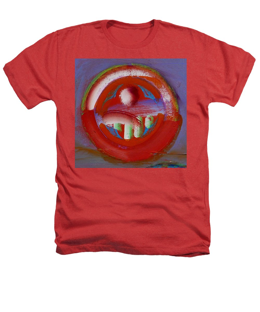 Love Heathers T-Shirt featuring the painting Earth Button by Charles Stuart