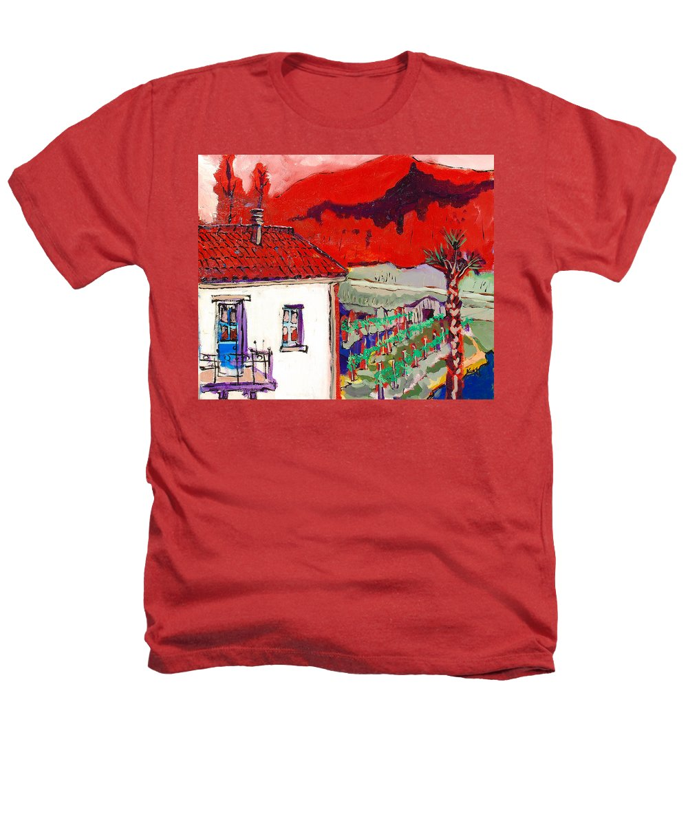 Heathers T-Shirt featuring the painting Enrico's View by Kurt Hausmann