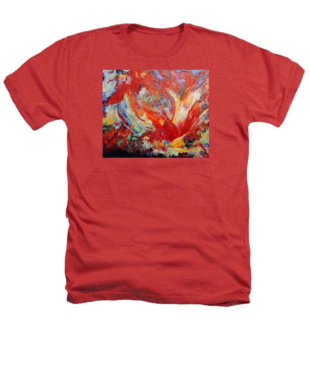 Abstract Heathers T-Shirt featuring the painting Exuberance by Michael Durst