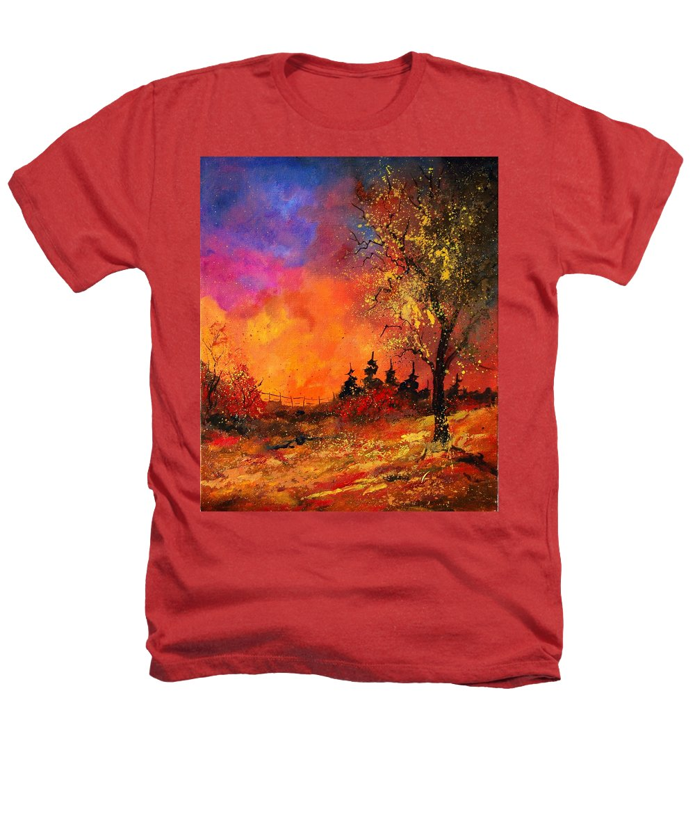 River Heathers T-Shirt featuring the painting Fall by Pol Ledent