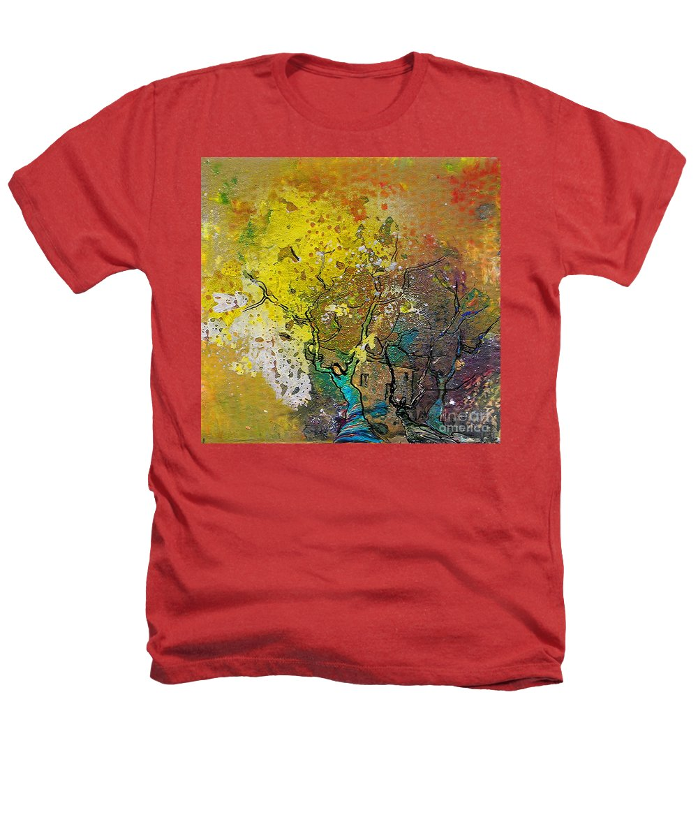 Miki Heathers T-Shirt featuring the painting Fantaspray 13 1 by Miki De Goodaboom