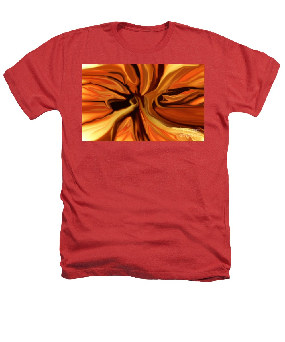 Abstract Heathers T-Shirt featuring the digital art Fantasy In Orange by David Lane
