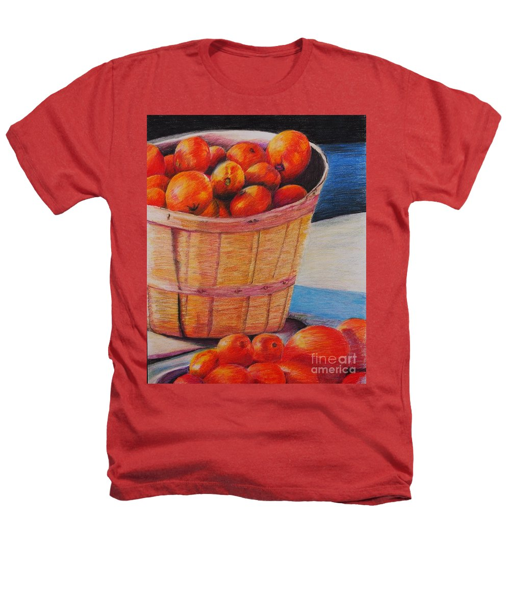 Produce In A Basket Heathers T-Shirt featuring the drawing Farmers Market Produce by Nadine Rippelmeyer