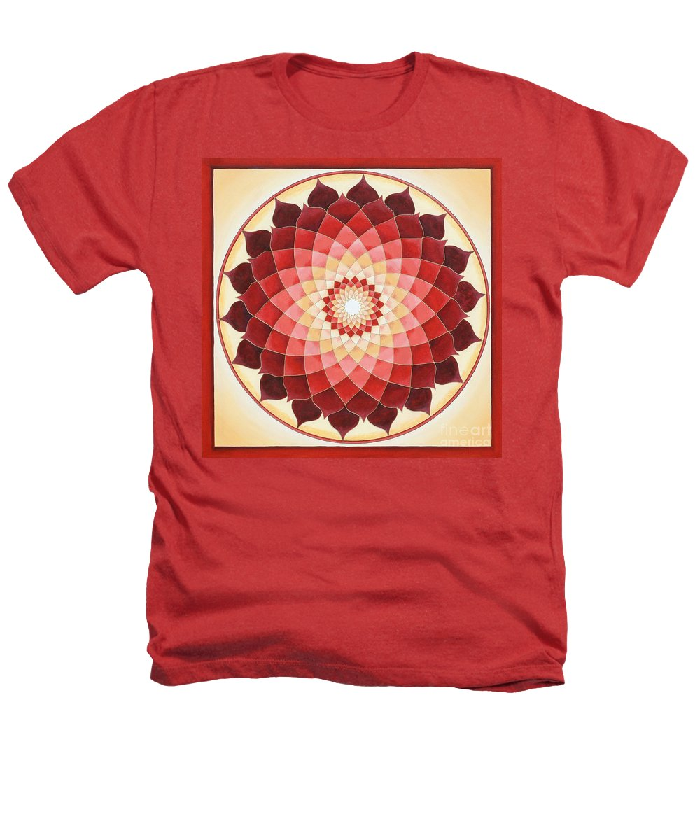 Mandala Heathers T-Shirt featuring the painting Flower Of Life by Charlotte Backman