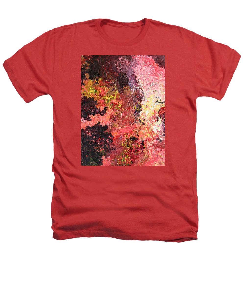 Fusionart Heathers T-Shirt featuring the painting Ganesh In The Garden by Ralph White