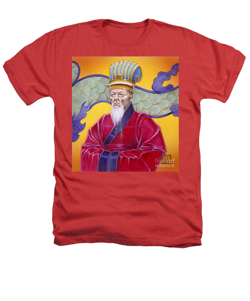 Oriental Heathers T-Shirt featuring the painting Gao Zhang by Melissa A Benson