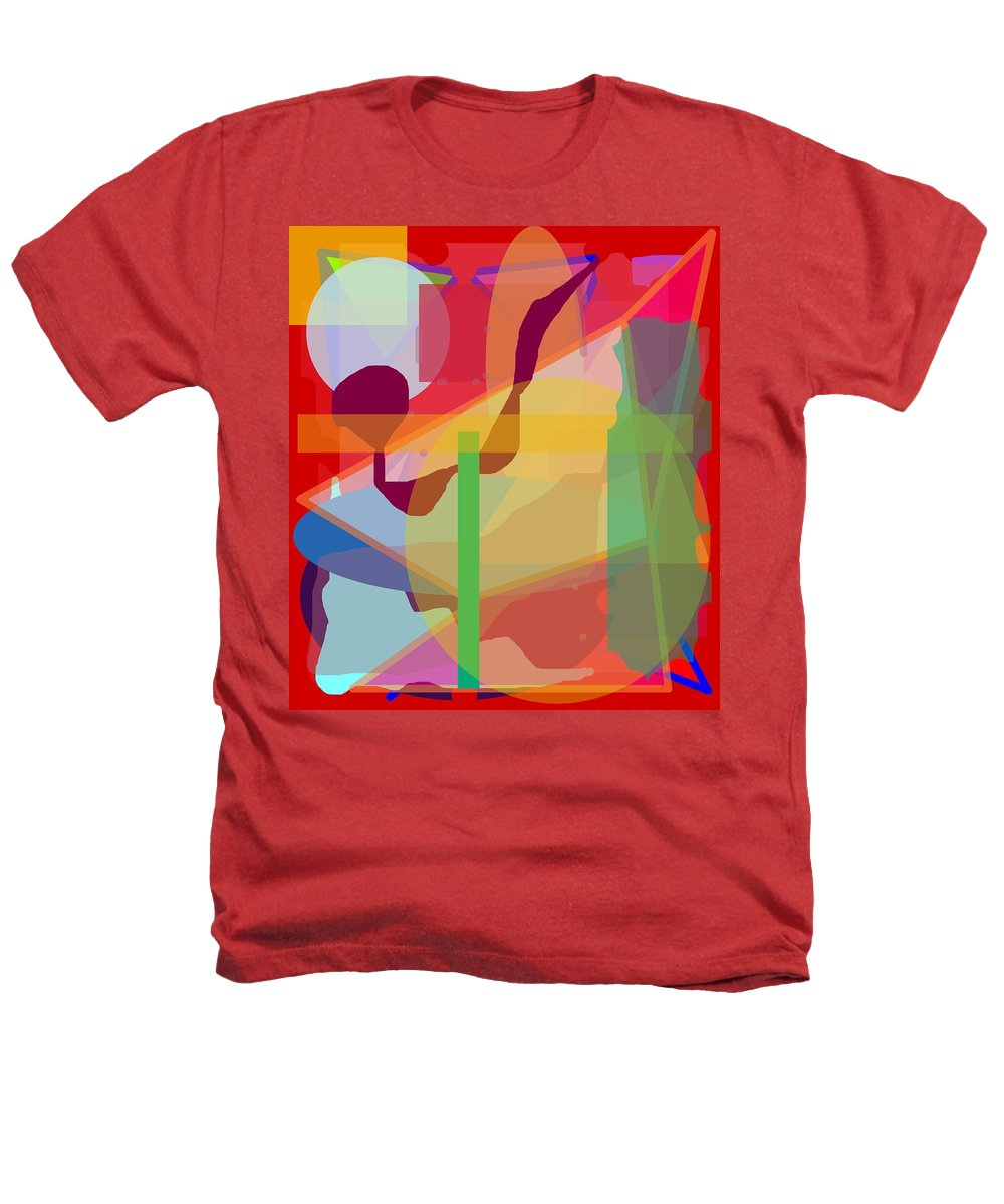 Abstract Heathers T-Shirt featuring the painting Geo Frenzy by Pharris Art