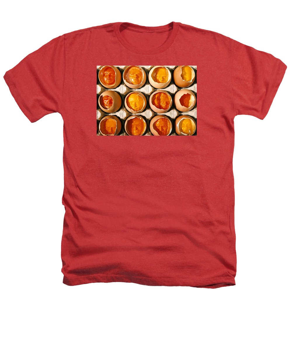 Eggs Heathers T-Shirt featuring the sculpture Golden Eggs by Mark Cawood
