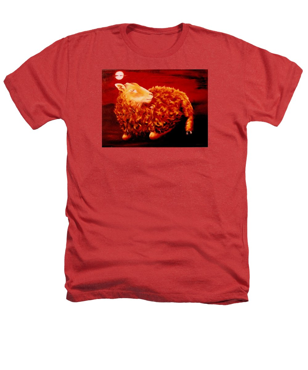 Sunset Heathers T-Shirt featuring the painting Golden Fleece by Mark Cawood