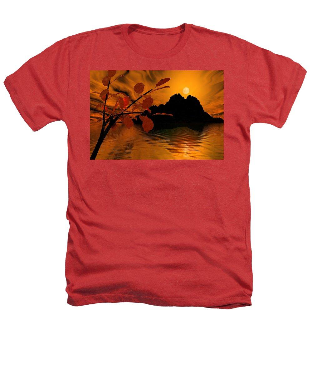 Landscape Heathers T-Shirt featuring the digital art Golden Slumber Fills My Dreams. by David Lane