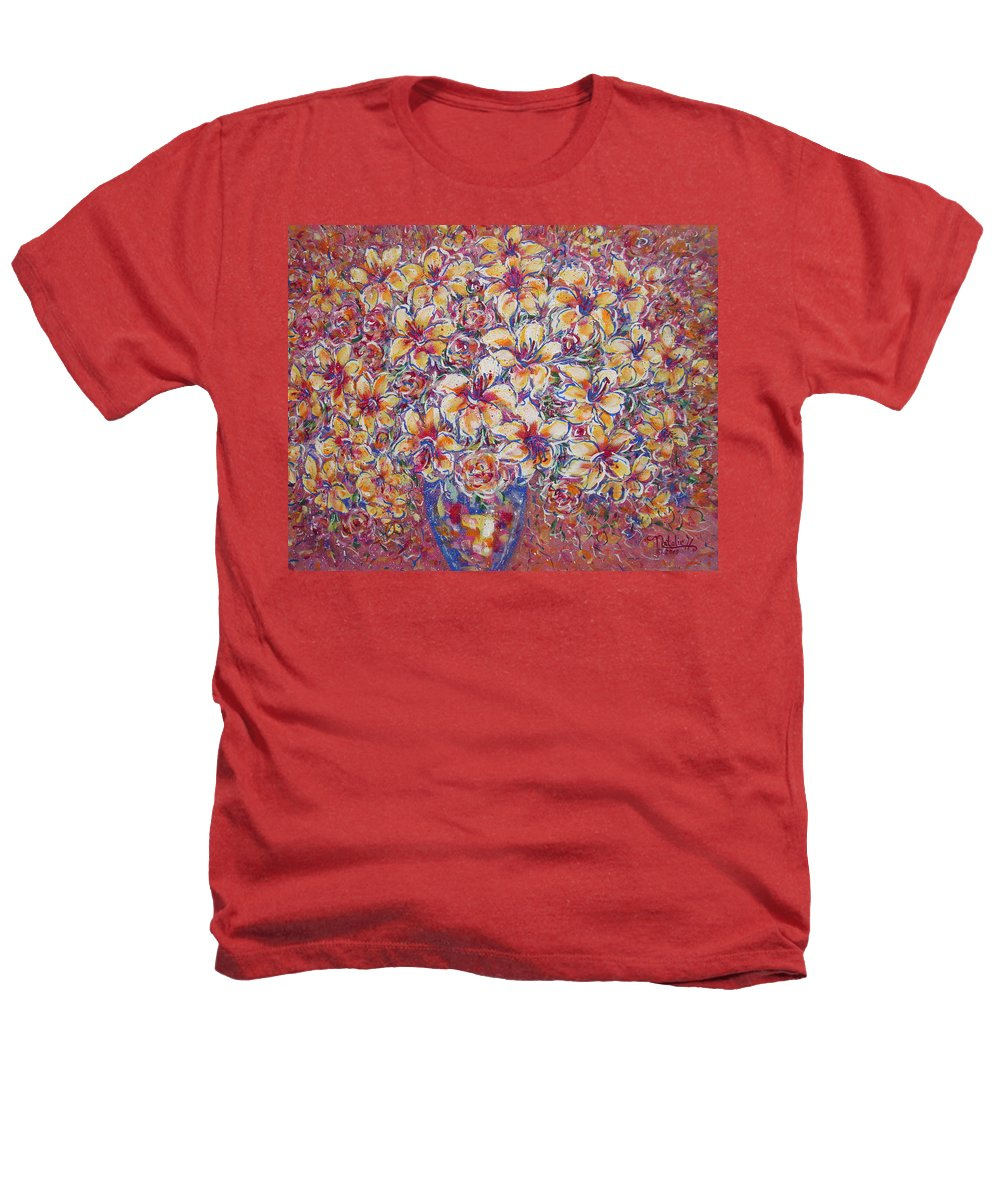 Lily Heathers T-Shirt featuring the painting Golden Splendor by Natalie Holland