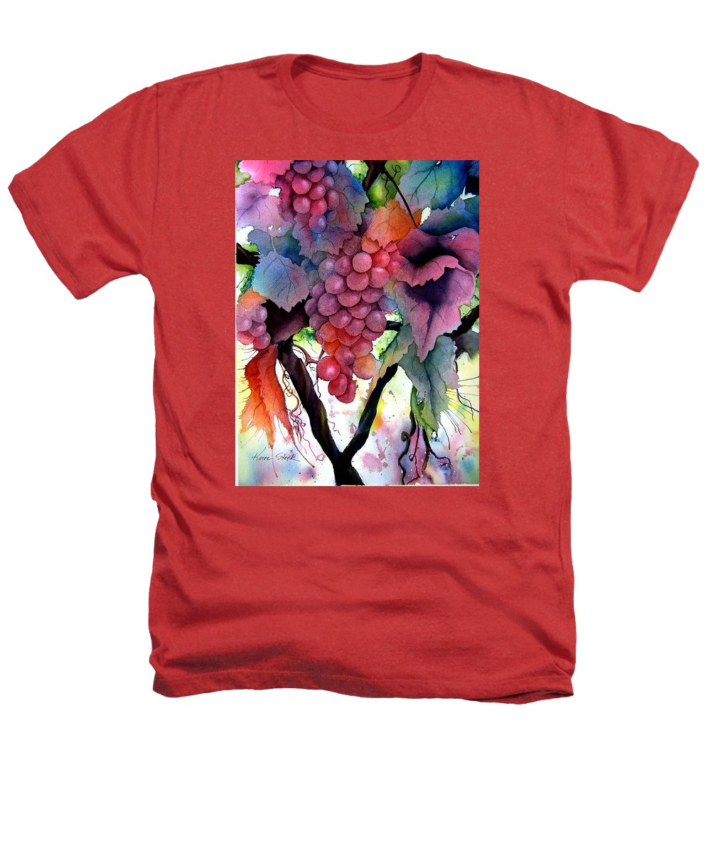 Grape Heathers T-Shirt featuring the painting Grapes IIi by Karen Stark