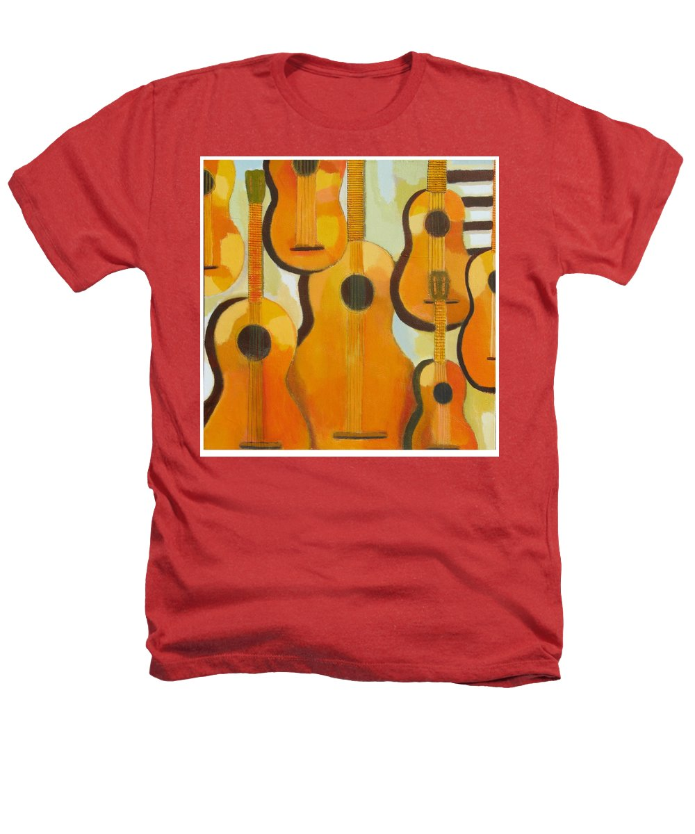 Abstract Heathers T-Shirt featuring the painting Guitars by Habib Ayat