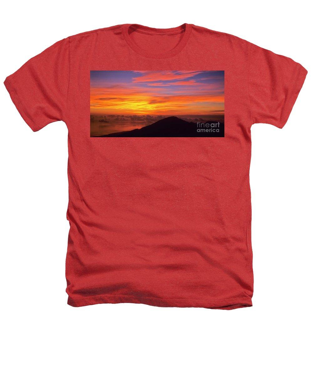 Nature Heathers T-Shirt featuring the photograph Haleakala Sunrise Colors IIi by Jim Cazel