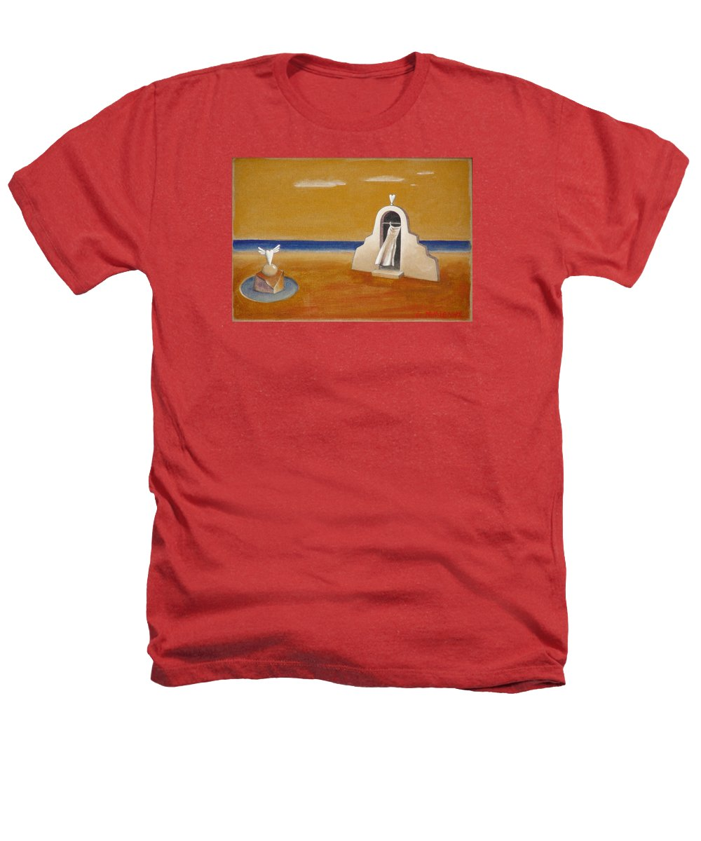 Chirico Heathers T-Shirt featuring the painting House Of Eros by Dimitris Milionis