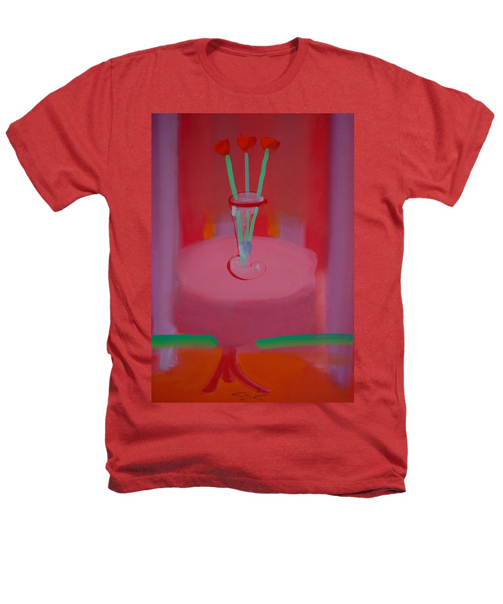 Vase Heathers T-Shirt featuring the painting In The Red Room by Charles Stuart