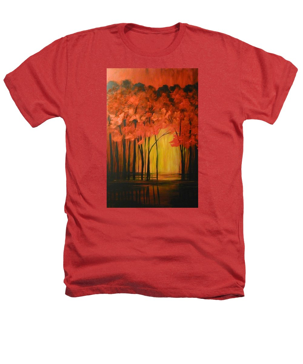 Abstract Heathers T-Shirt featuring the painting Japanese Forest by Sabina Surya Naya