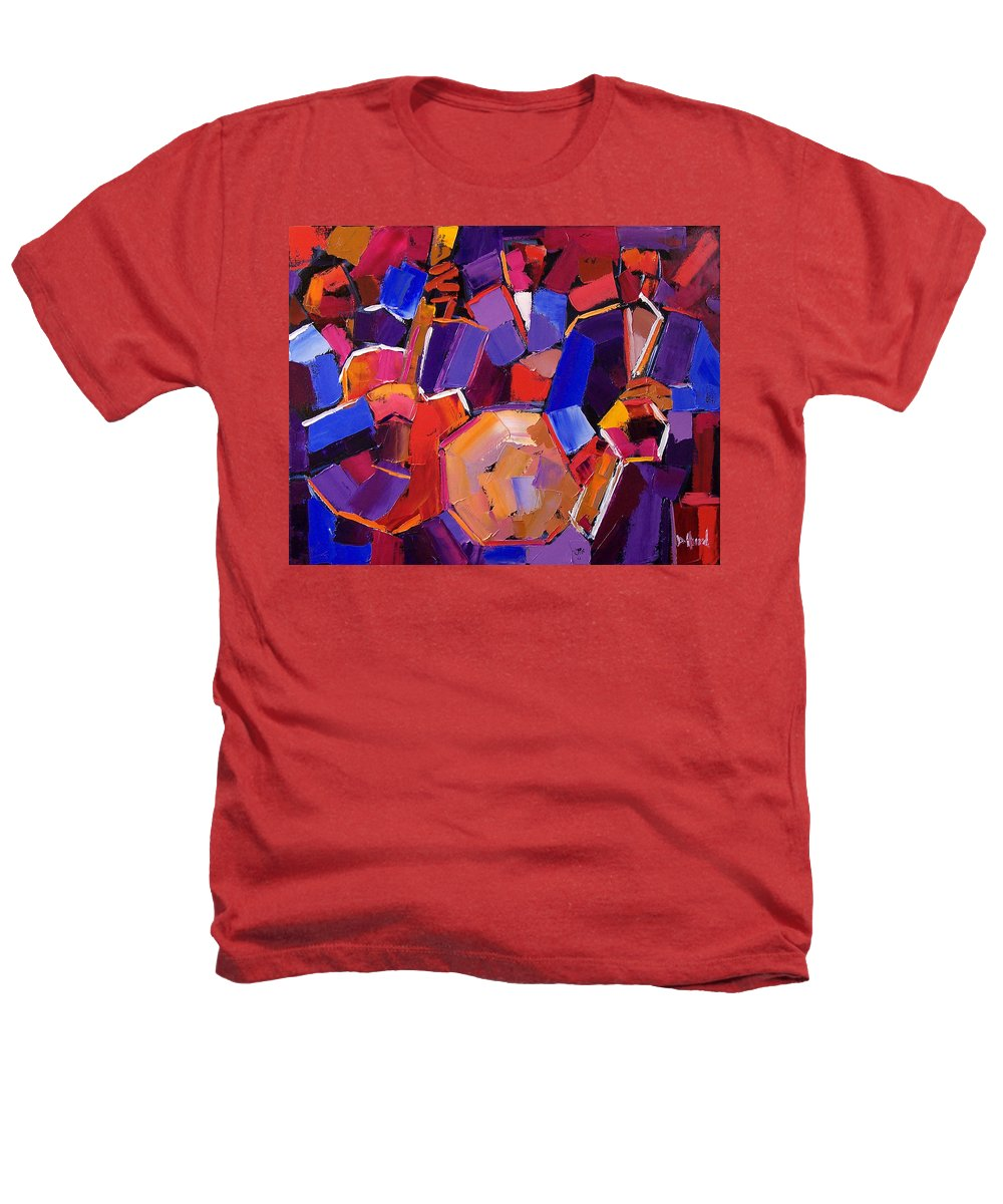Jazz Heathers T-Shirt featuring the painting Jazz Angles Two by Debra Hurd
