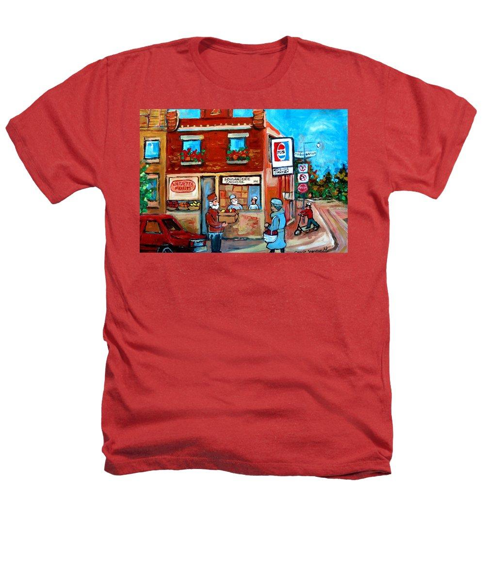 Kosher Bakery Heathers T-Shirt featuring the painting Kosher Bakery On Hutchison Street by Carole Spandau