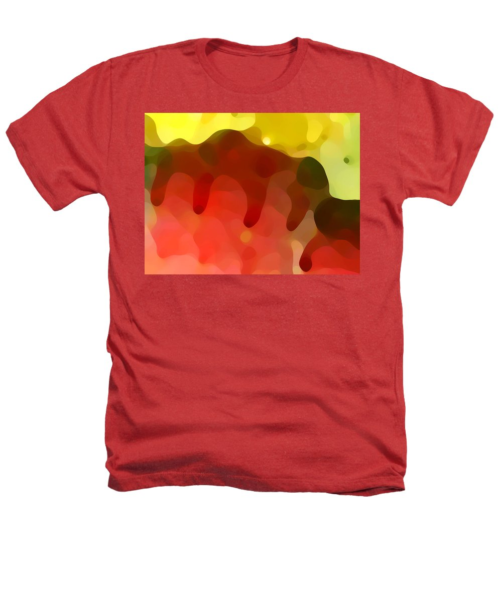 Abstract Heathers T-Shirt featuring the painting Las Tunas Ridge by Amy Vangsgard