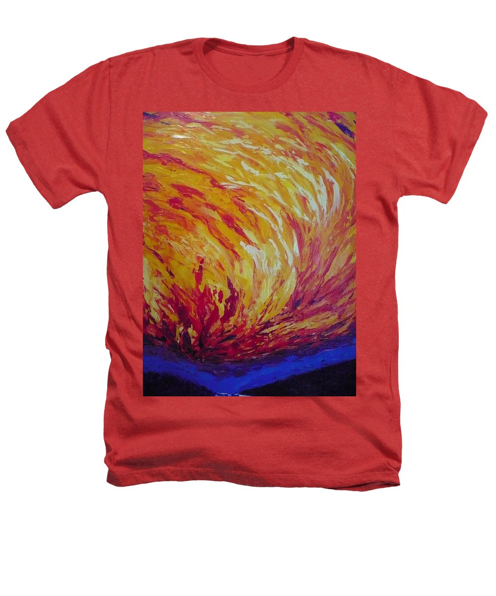 Fire Heathers T-Shirt featuring the painting Lighting A Match by Ericka Herazo