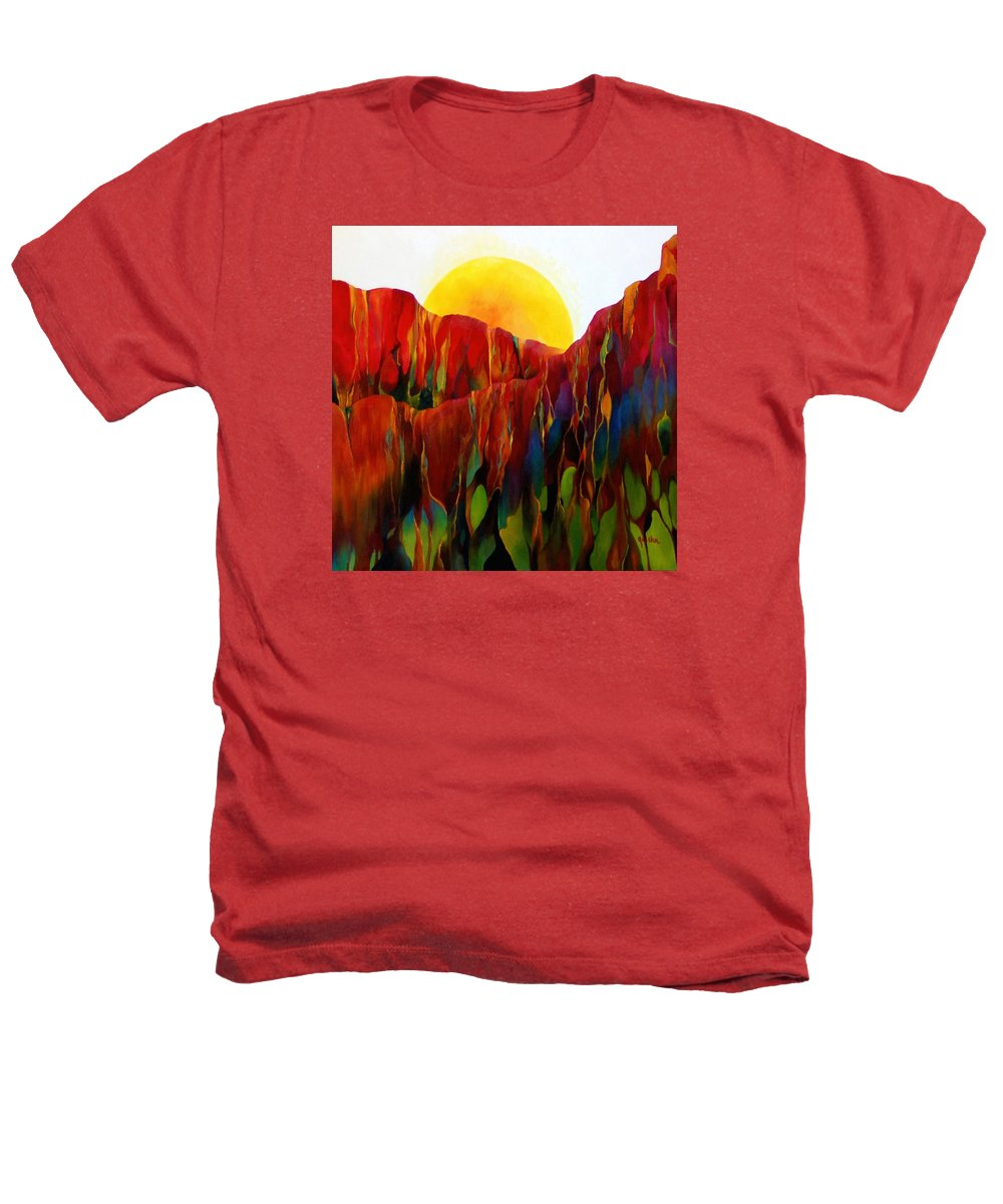 Oil Heathers T-Shirt featuring the painting Living Earth by Peggy Guichu