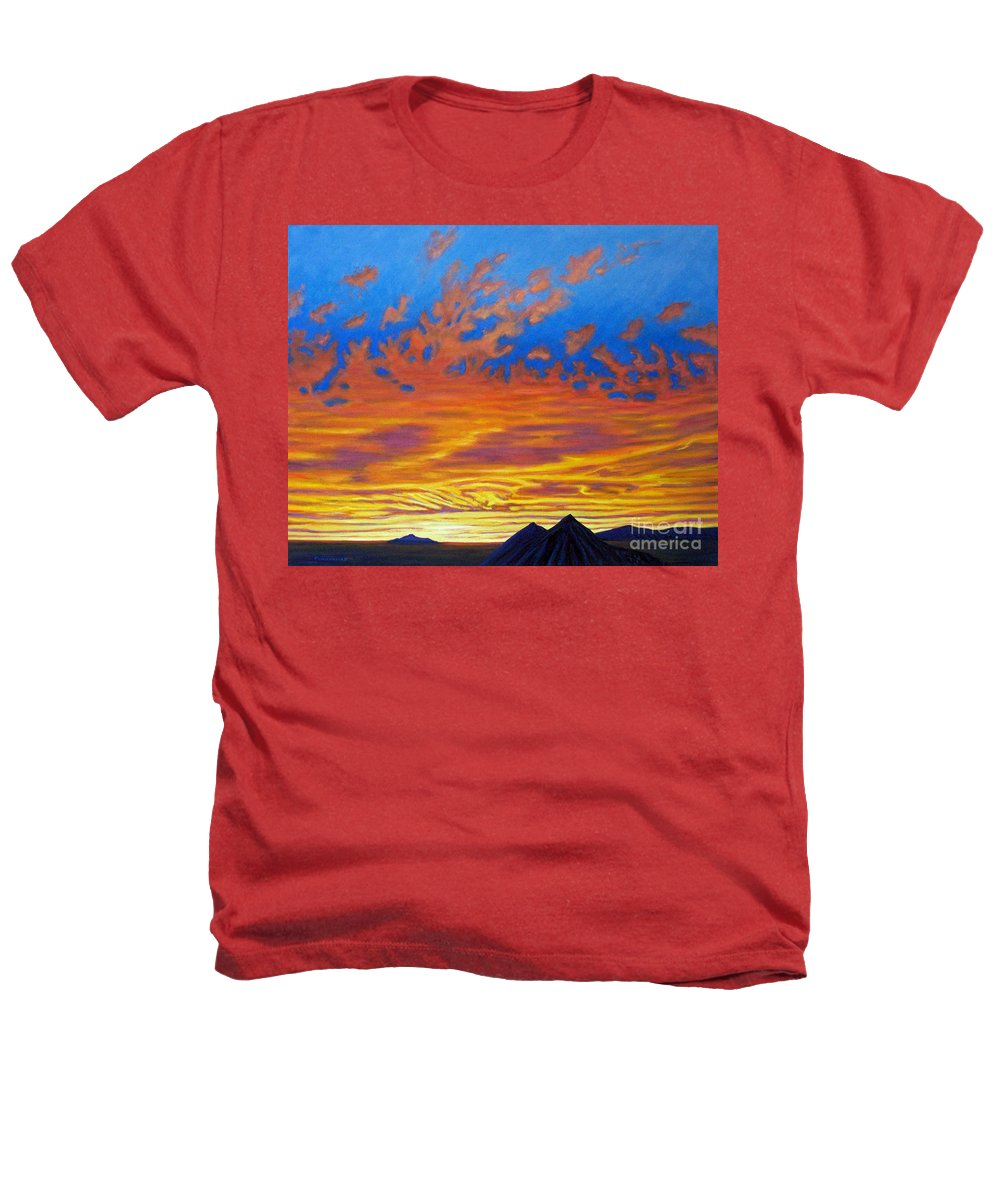 Landscape Heathers T-Shirt featuring the painting Looking To The Southwest by Brian Commerford
