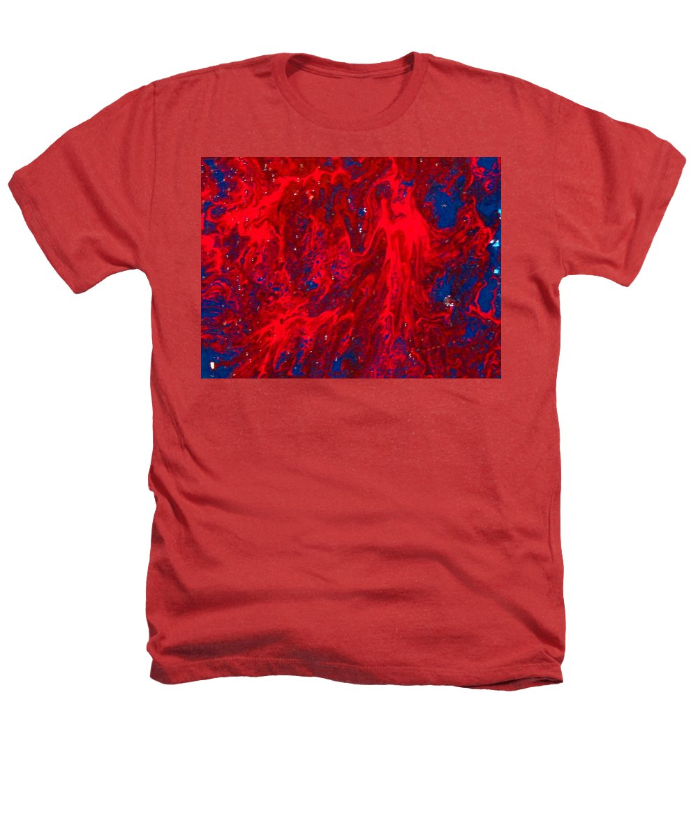 Abstract Art Heathers T-Shirt featuring the painting Lost Souls by Natalie Holland