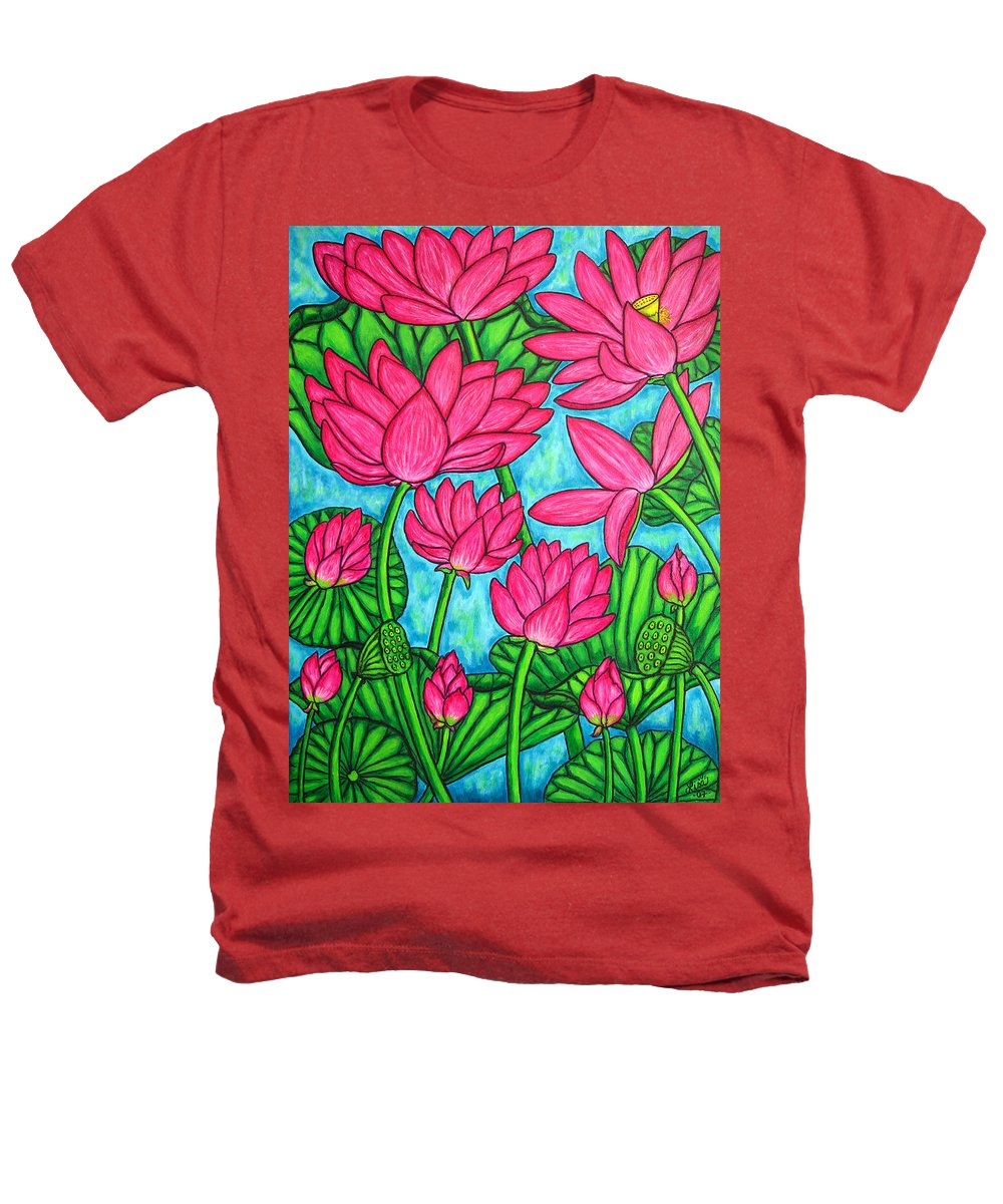 Heathers T-Shirt featuring the painting Lotus Bliss by Lisa Lorenz