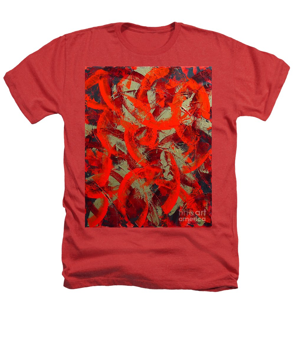 Abstract Heathers T-Shirt featuring the painting Love Trails by Dean Triolo